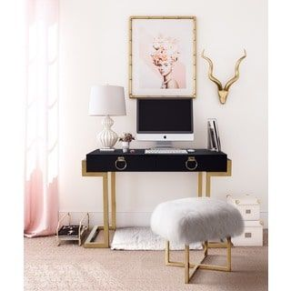 Shop for Black/Gold Metal Wood Majesty Desk and more for everyday discount prices at Overstock.com - Your Online Furniture Store!