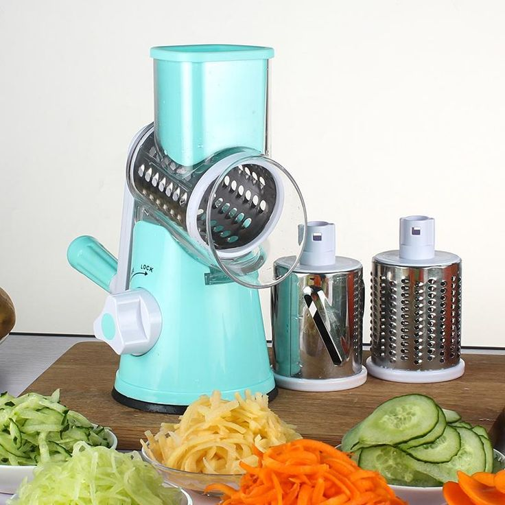 Easily cut your fruits and vegetables with a mandoline slicer. This device will save you a ton of time and what's more, it will bring your cooking to a whole new level with tasty and looking good healthy food.