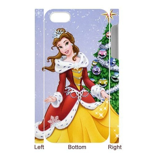 Special Disney Princess Belle Christmas Tree Celebrating IPhone 5 Case By Phonecasewholesale