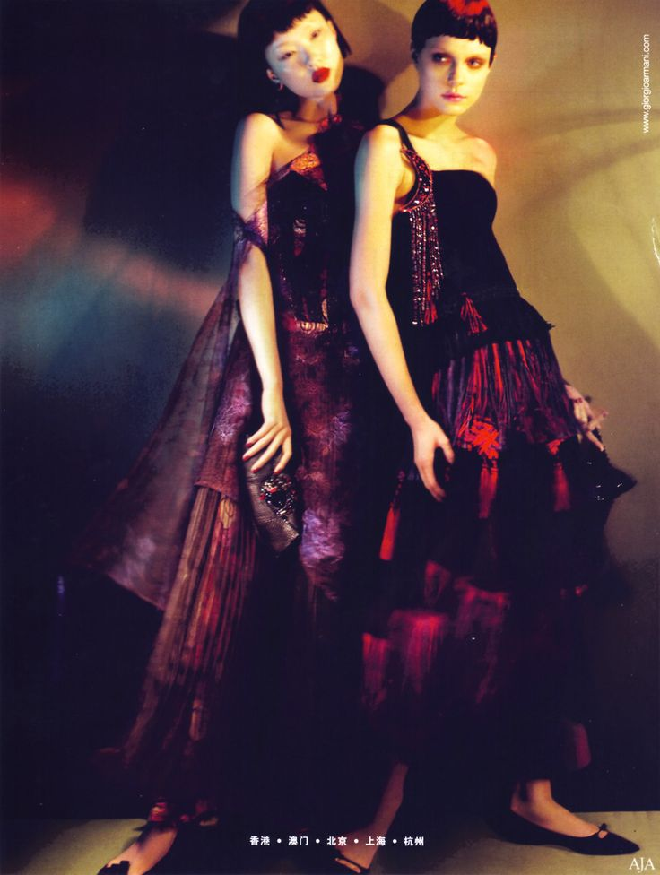 Du Juan and Jessica Stam by Mert & Marcus | Giorgio Armani F/W 2008