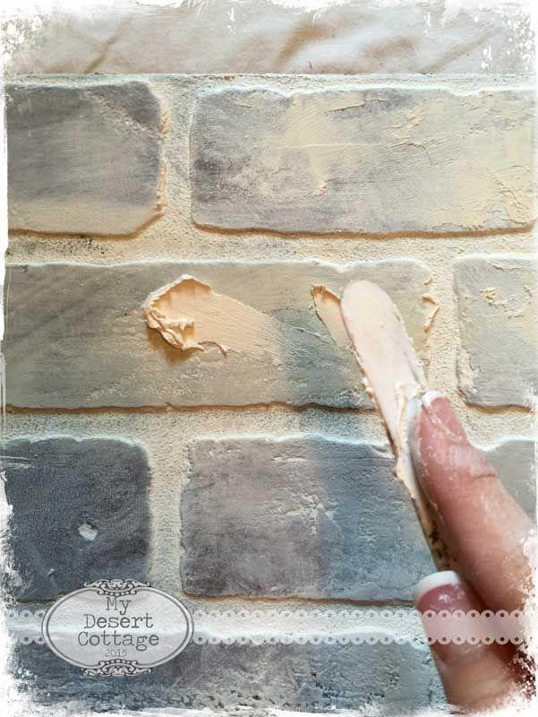 Best 25 faux brick backsplash ideas on pinterest white for Faux brick edging