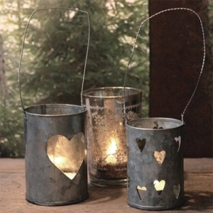tin can candle holders - not sure how to make these but I need to figure it out b/c they are so cute!