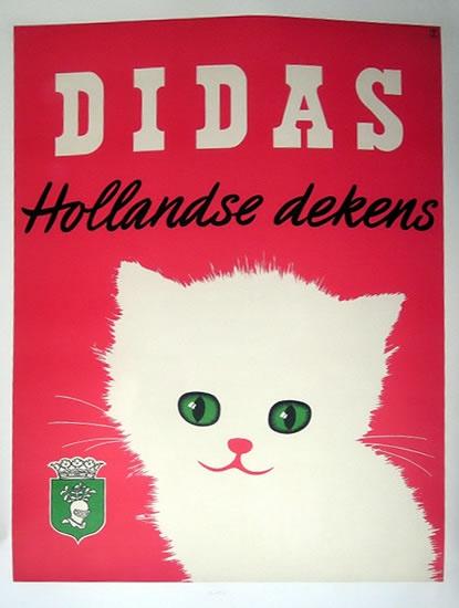 Didas Hollandse Dekens (Dutch Wool) vintage advertising poster, c. 1955