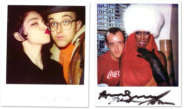 Keith Haring with Madonna and Grace Jones.