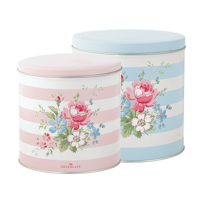 Greengate Tin Box Round Marie Two Pieces 15.2 x 15.8 cm