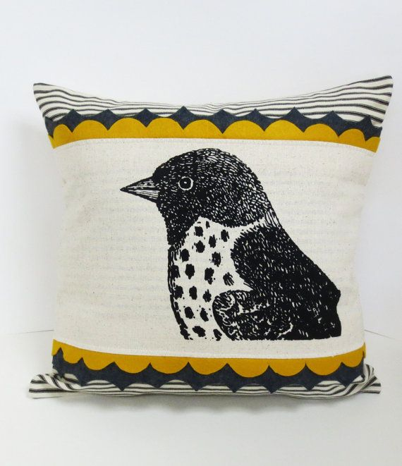 Sparrow Bird Screen Print Decorative Pillow by ecarlateboutique & 95 best Pillows images on Pinterest | Cushions Pillow ideas and ... pillowsntoast.com