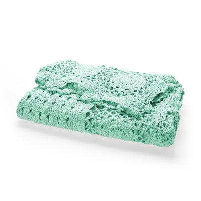 Crochet Throw in Mint