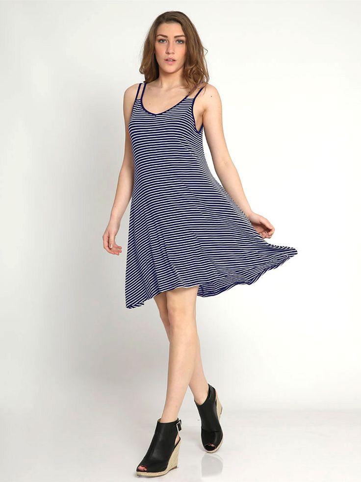 Ριγέ φόρεμα με τιράντες - 16,98 € - http://www.ilovesales.gr/shop/rige-forema-me-tirantes-3/ Περισσότερα http://www.ilovesales.gr/shop/rige-forema-me-tirantes-3/