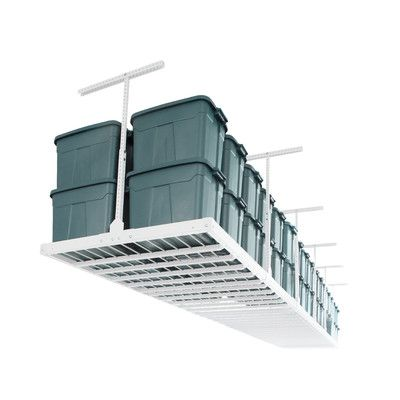 Monkey Bar Storage Ceiling Mounted Overhead Garage Storage System Rack