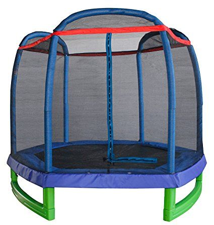 Merax 7FT Kids Trampoline and Enclosure Set (Blue)