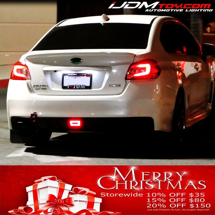 Christmas is almost here! But that means iJDMTOYs LED sale is almost going away! Hurry and take 10% off $35, 15% off $80, and 20% off $150. We have got tons of HID and LED options for your car!  http://store.iJDMTOY.com  #Subaru #WRX #STi #cars #carparts #carlights #iJDMTOY #JDM #LED #rearfog #rearfoglight #sale #deal #promo #holidaysale #holiday #discount #HID
