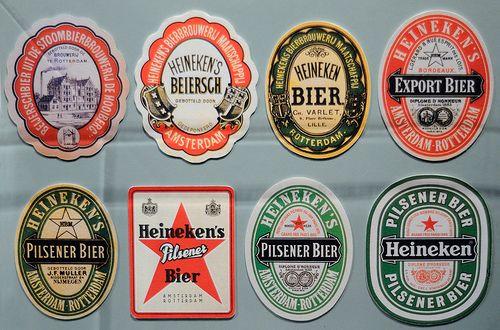 Heineken Label Evolution By Olaborda Via Flickr
