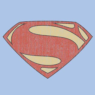 Superman T shirt Distressed Logo blue cotton graphic tee DC comics SM2060- Superman T-shirts