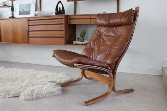 Cool Mid Century Modern Westnofa Tan Leather Siesta Chair By Gmtry Best Dining Table And Chair Ideas Images Gmtryco