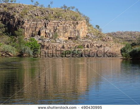 Beautiful river gorge in the Australian outback of Katherine Northern territory