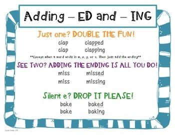 ... teacherspayteachers com more ed and ing ed ing ending suffix