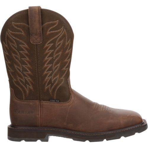 Ariat Men's Wellington Steel-Toe Western Work Boots (Brown, Size 10.5) - Wellington Steel Toe Work Boots at Academy Sports