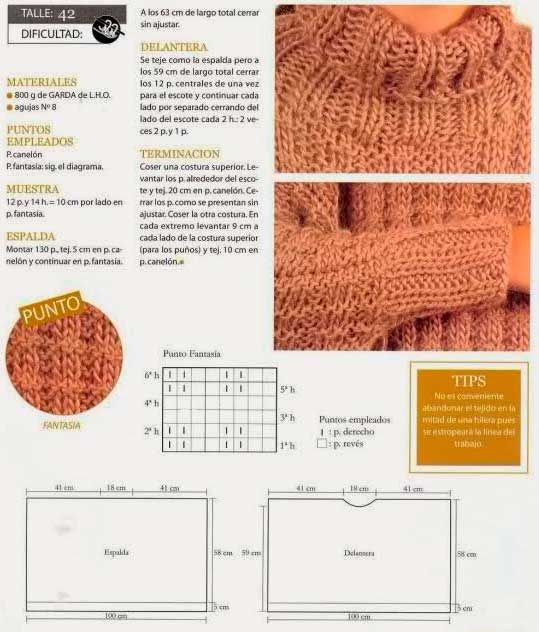 11 best tejidos images on Pinterest | Knits, Knitting patterns and ...