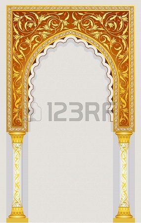 High detailed islamic arch design in vector illustration eps 10 Stock Photo - 19028659
