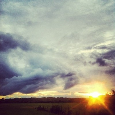 After the rain.. #nature #summer #rain #cloudporn #clouds #sunset #sun #light #alabama [credit tumblr]