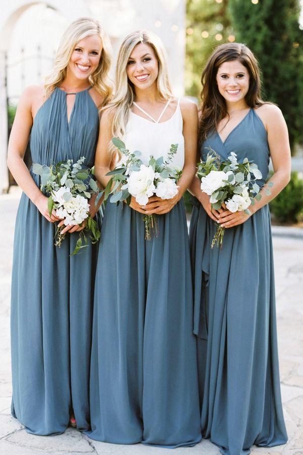 00bacaf67832 bohemian dusty blue bridesmaid dresses #weddings #wedding #weddingcolors  #weddingideas#beautiful #dresses #bridesmaid