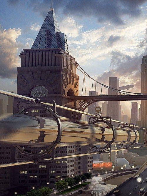 Les 153 meilleures images du tableau ville imaginaire sur for Architecture futuriste