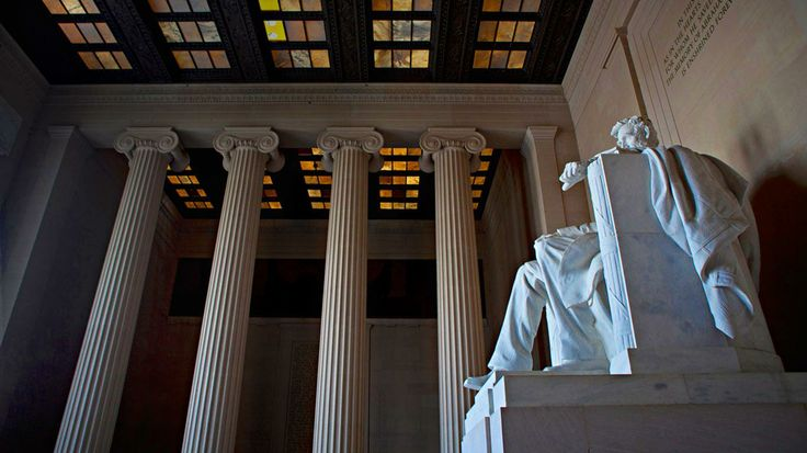 The Lincoln Memorial, National Mall in Washington, D.C.~ by Ocean/Corbis