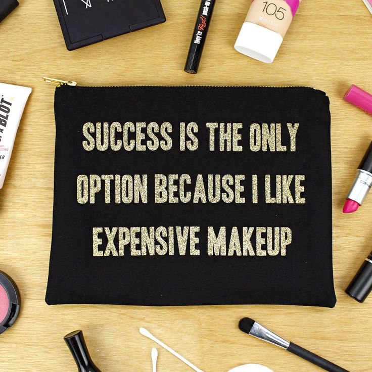 'Success Is My Only Option' Makeup Bag