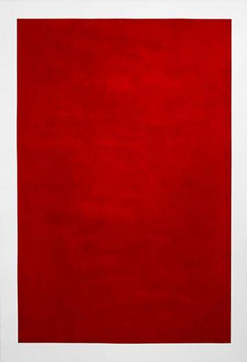 Manera Vermella 2014 - 2015 - Mezzotint engraving carmine red 111 x 76 cm. (paper) 99'5 x 65'5 cm. (plate)