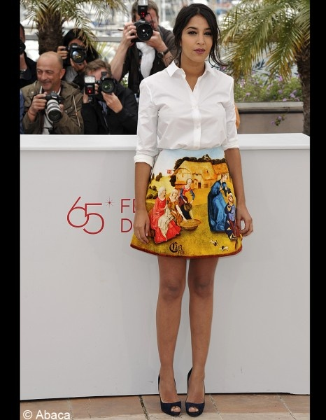 Leila Bekti the skirt is awful  its' cannes,she should be more dress up