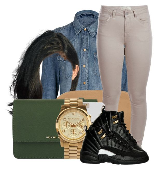 """95"" by jalay ❤ liked on Polyvore featuring Polo Ralph Lauren, Boohoo, Pieces and MICHAEL Michael Kors"