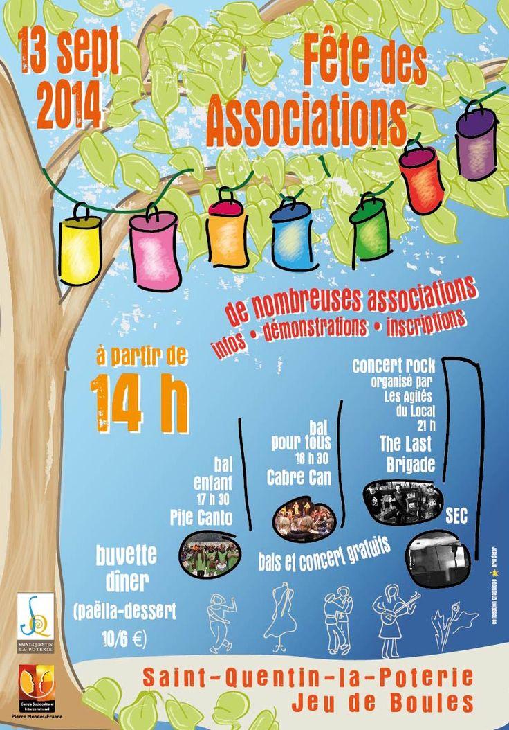 Fête des Associations 2014 #affiche #illustration  ©brindazar.fr