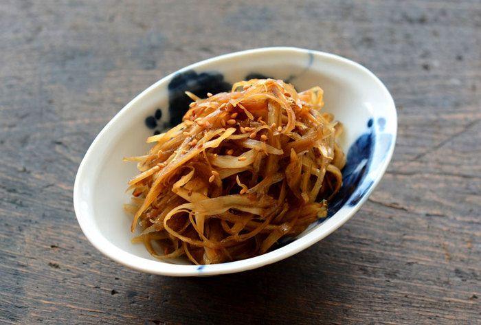 ■きんぴらごぼう 和食に出番が実はとっても多い、「さ」「せ」のレシピ。このきんぴらはその代表と言ってもいいかもしれません。日本人好みの甘辛い味付けは、外国の人にも好まれるんですよ!