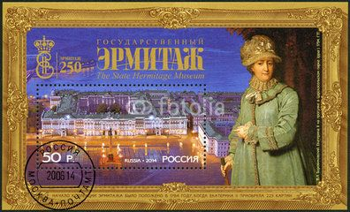 RUSSIA - 2014: 250 years of the Foundation of State Hermitage