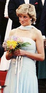 Gown - Diana, Princess of Wales wearing an elegant gown at the Cannes Film Festival in 1987