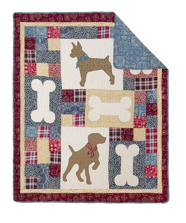 Look what I found on #zulily! Doggie Tales Throw by Hedaya Home Fashions #zulilyfinds