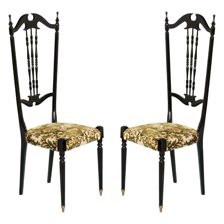 pair #chiavari #italian #chair #mid-century http://www.ebay.it/itm/COPPIA-SEDIE-CHIAVARINE-ANNI-50-CHIAVARI-LACCATE-NERE-SCHIENALE-ALTO-MA-S05-/221512799140?pt=Arredamento_d_antiquariato&hash=item33933113a4