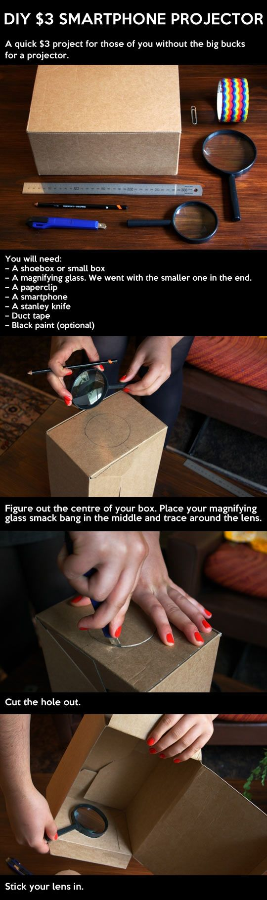 How to make your own smartphone projector...