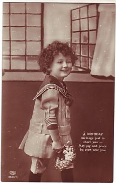 E A Schwerdtfeger Postcard - A Birthday Message Just To Cheer You  c1912