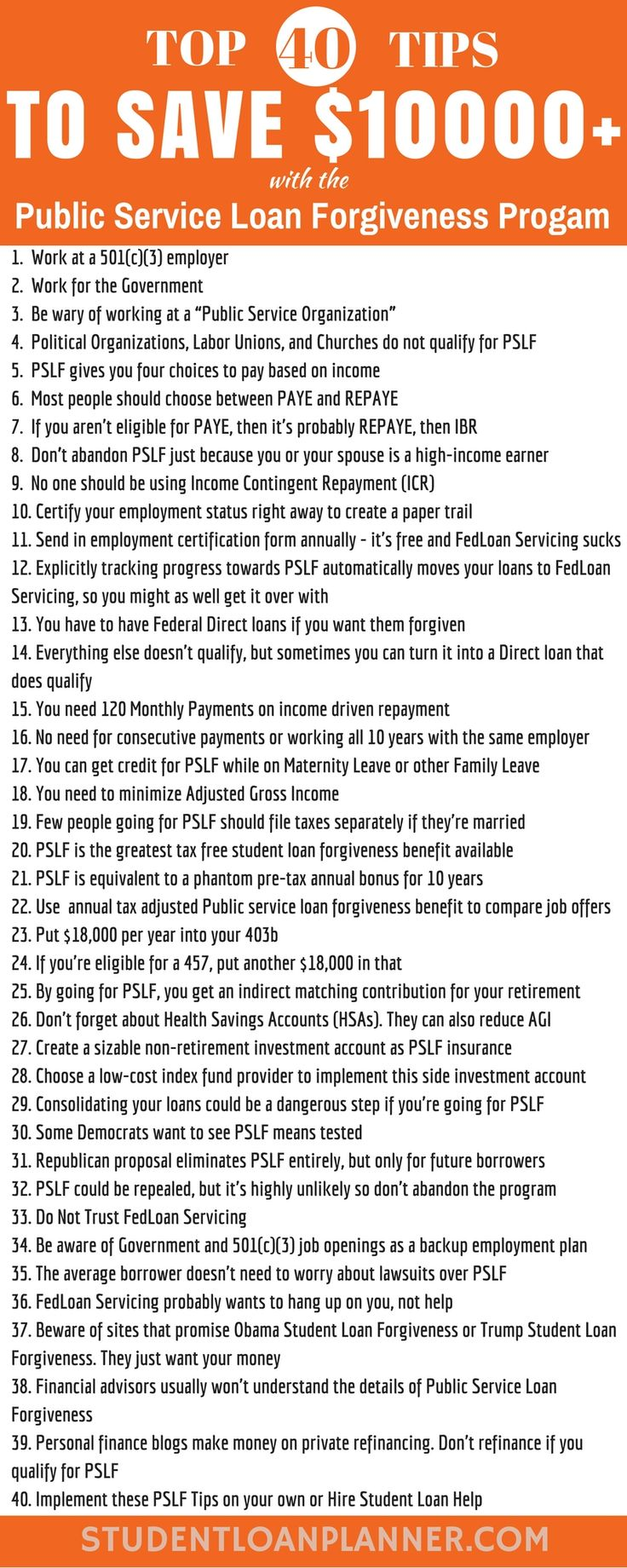 Public service loan forgiveness 40 tips to save thousands