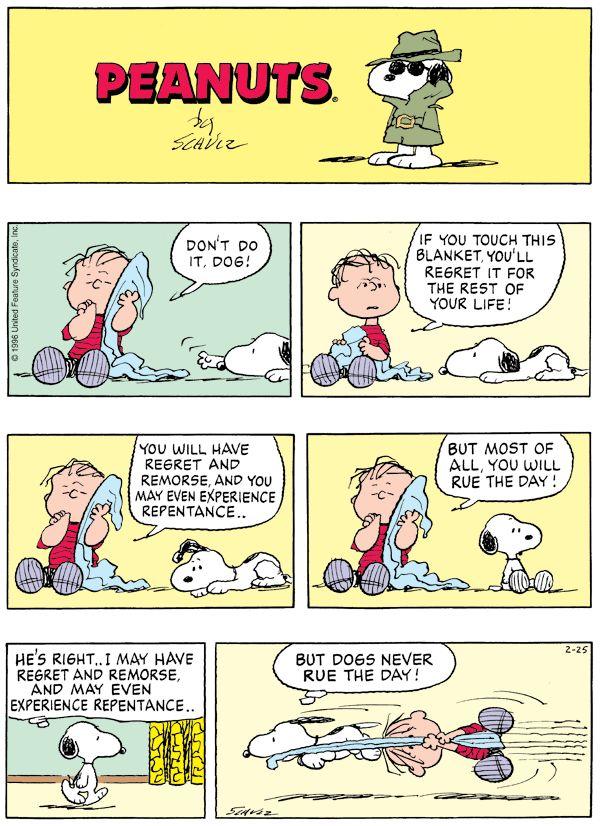 Poor Linus - February 25, 1996