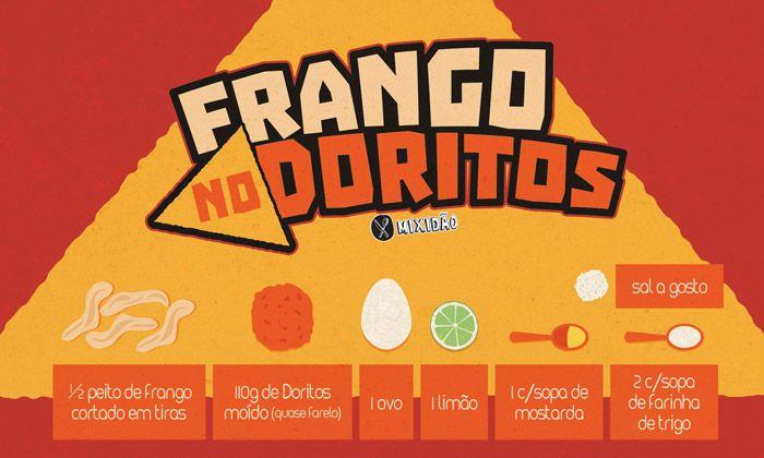 RECEITA-ILUSTRADA 156: Frango no Doritos - http://www.mixidao.com.br/receita-ilustrada-156-frango-no-doritos/