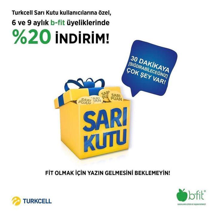 #fit olmak için #yaz gelmesini bekleyenlerdenseniz hala #bfitatasehirkamelya ile tanışmadınız demektir #turkcell #sarıkutu kampanyası sizi bekliyor.