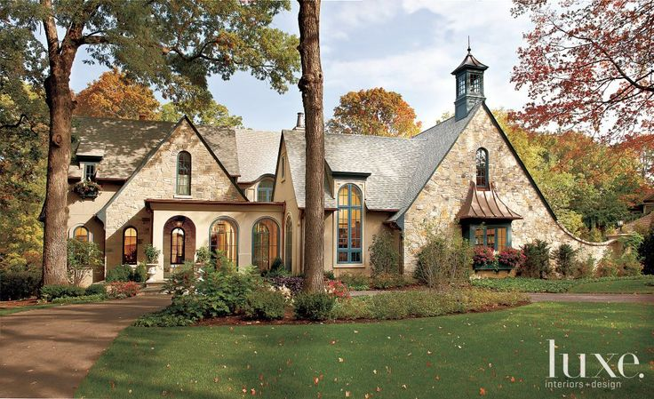 Storybook cottage | Stone Exterior with Shingle-Style Roof | LuxeSource | Luxe Magazine - The Luxury Home Redefined