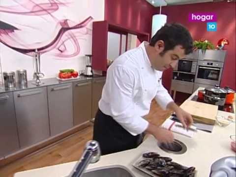 ▶ Cocina con Bruno Oteiza 2x44 Arroz con pulpo y mejillones DVBRip by EutiTusSeries com - YouTube