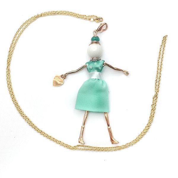 Gisel collana donna bambolina in ottone con vestiti alta sartoria MADE IN ITALY | eBay
