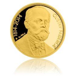ID_491 Zlatá uncová mince 50 NZD Gustav Fabergé proof