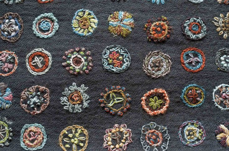 'Existence' wool scarf, by Sophie Digard #textile #embroidery