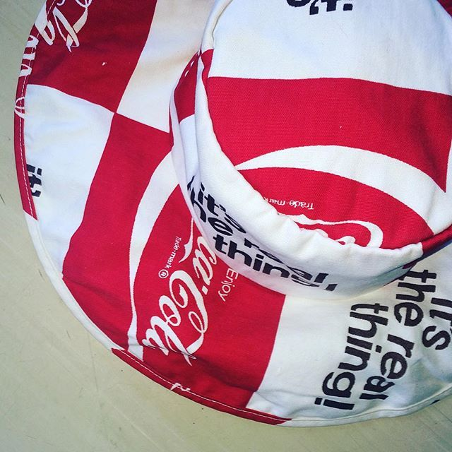 Vintage 1970 Coca Cola floppy hat #vintagecocacola #vintagehats #cocacola #itstherealthing coming soon