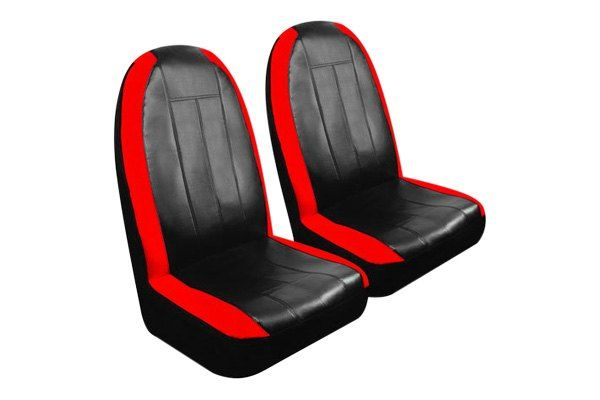 Pilot® - Synthetic Leather Black/Red Sport Seat Cover